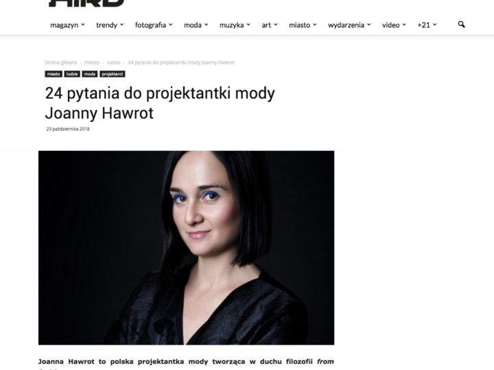 HIRO : 24 pytania do Joanny Hawrot