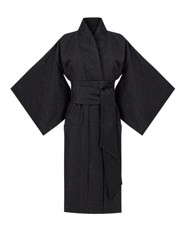 kimono żakardowe plamki