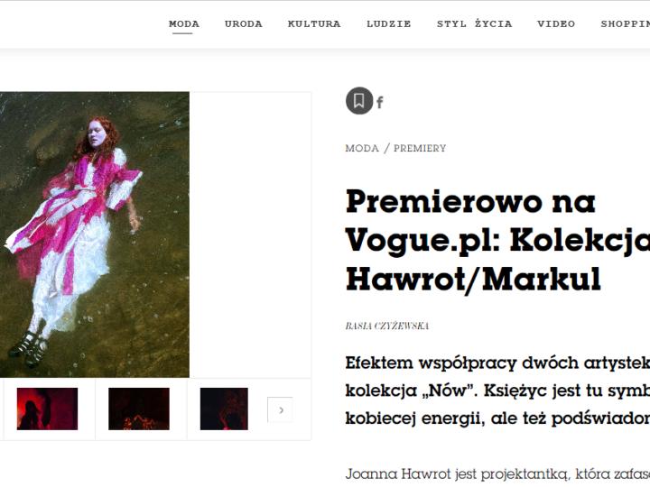 Premierowo na Vogue.pl: Kolekcja Hawrot/Markul