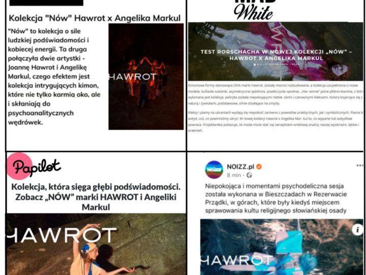"""Media o kampanii """"Nów"""" Hawrot x Angelika Markul"""